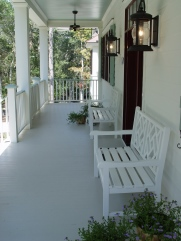 outdoor living Southern Pine porch bench